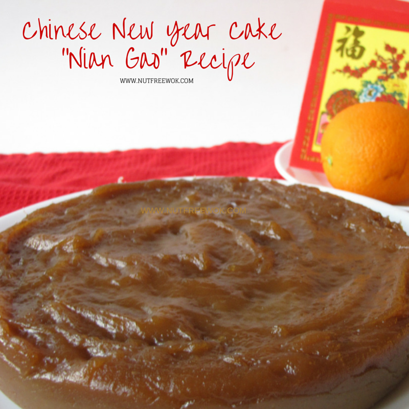 Chinese new year cake nian gao recipe nut free wok chinese new year cake nian gao recipe forumfinder Gallery