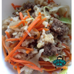 Beef Fried Rice with Cabbage and Carrots Recipe