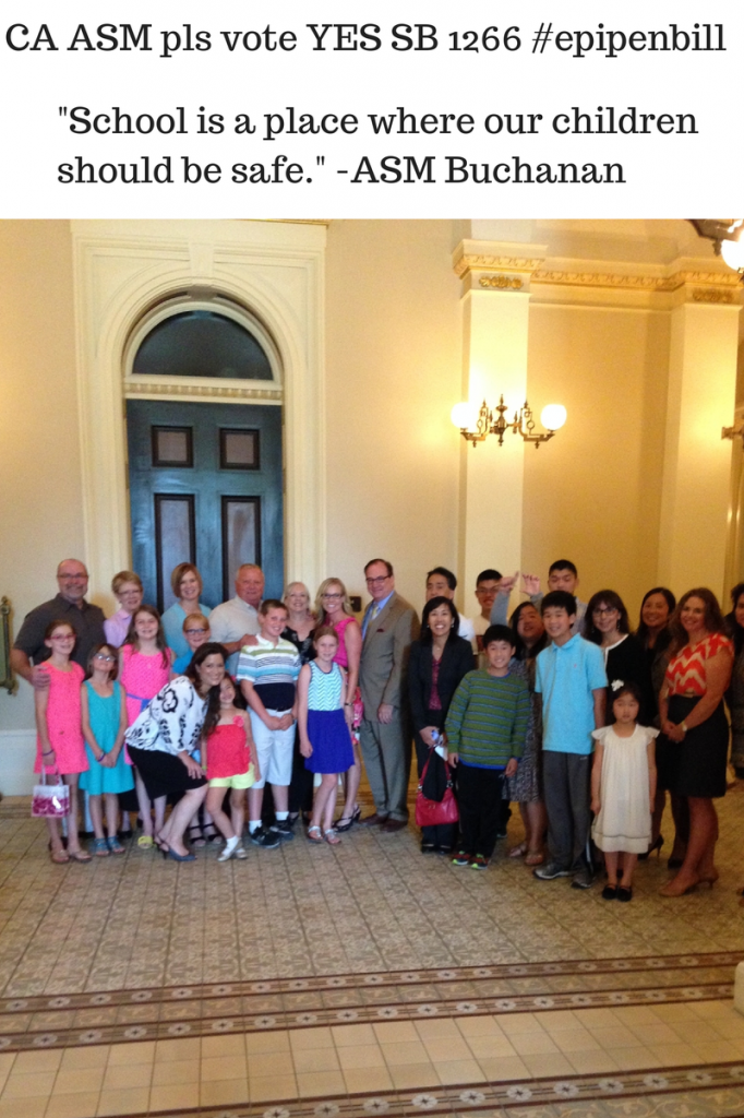 Happy advocates after June 25th Assembly Education Committee. Photo credit: aide from Senator Huff's office