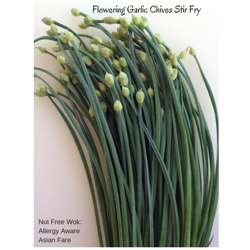 Garlic Chive Flowers Stir Fry Nut Free Wok