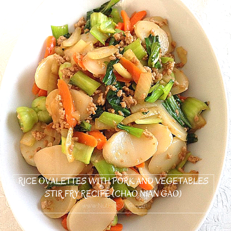 Rice Ovalettes With Pork And Vegetables Stir Fry Recipe Chao Nian Gao