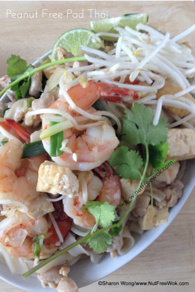 Peanut Free Pad Thai with tofu shrimp