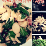 Korean Rice Ovalette with Bacon & Baby Greens Stir Fry Recipe
