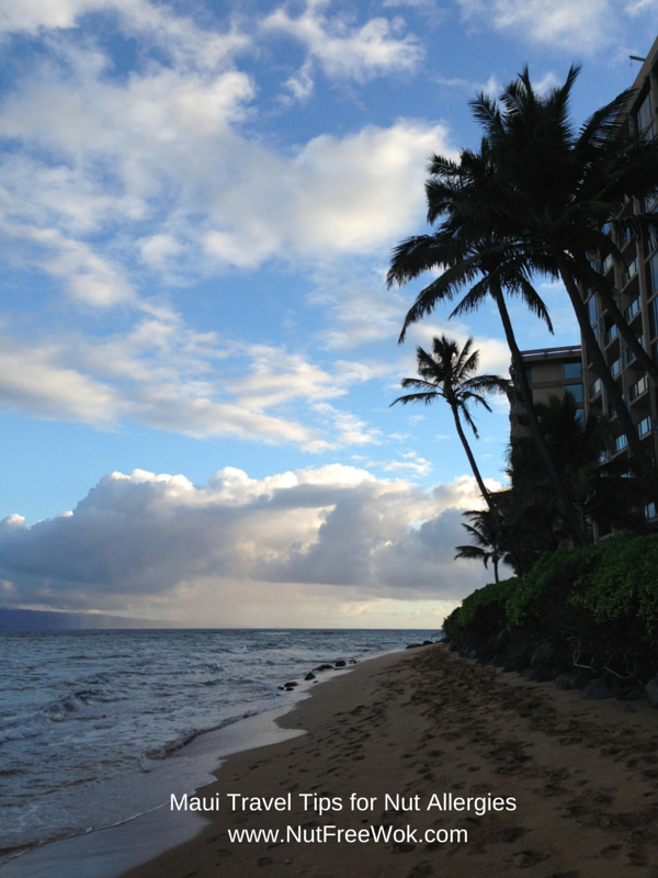Early morning photo of a beach in Maui with clouds in the back ground