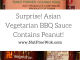 Collage of Asian vegetarian BBQ sauce ingredient labels