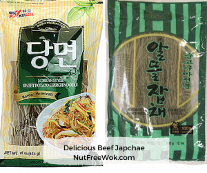 Delicious Beef Jap Chae, Nut Free Wok