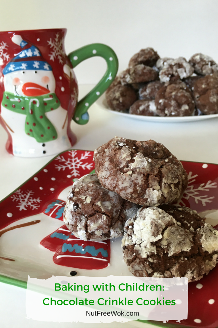 Baking with children, Chocolate Crinkle Cookies