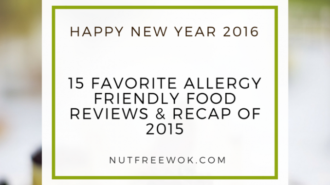 15 Favorite Allergy Friendly Food Reviews & Recap of 2015