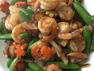 Happiness is a Shrimp Stir Fry with Spring Vegetables Recipe