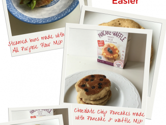 Collage of different ways to use the pancake waffle mixEnjoy Life Foods Baking Mixes Make Cooking Easier