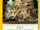 easy mung bean sprout in a brown square bowl
