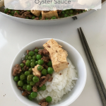 Minced Beef with Tofu, Peas, and Oyster Sauce Recipe