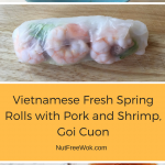 Vietnamese Fresh Spring Rolls with Pork and Shrimp, Goi Cuon
