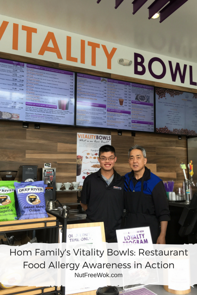 Hom Family's Vitality Bowls: Restaurant Food Allergy Awareness in Action
