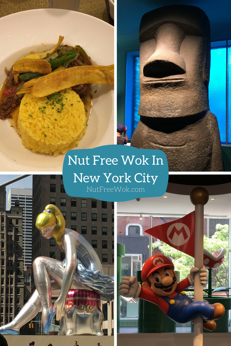 Nut Free Wok in NYC Havana Central Natural History Rockerfeller Nintendo