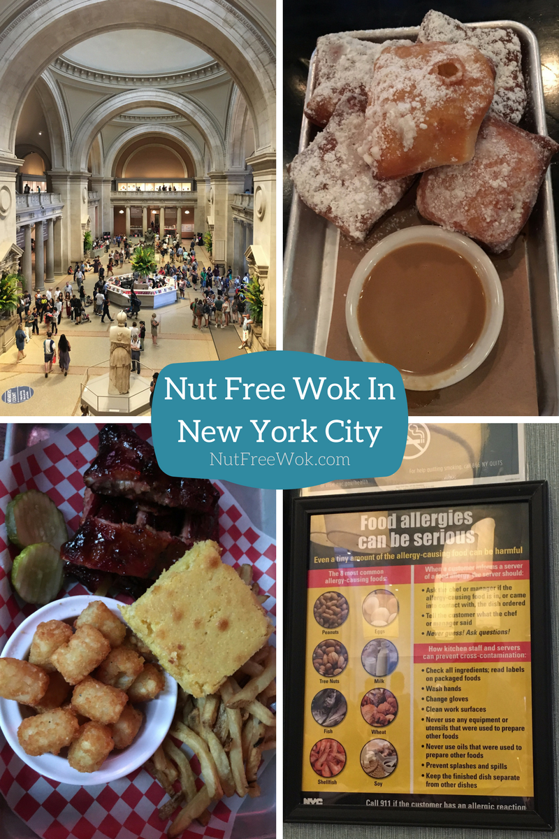 Nut Free Wok in NYC met blue smoke beignet bbq