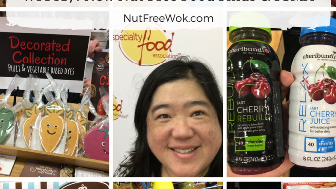 collage of WFFS17 nut free food finds