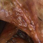 close up of roasted turkey drumsticks