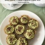 Matcha Chocolate Chip Cupcakes with SAFE + FAIR Vanilla Cake Mix