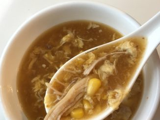 Instant Pot Chicken Corn Egg Drop Soup in a bowl