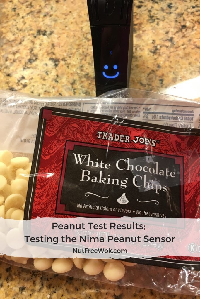 Nima Peanut test results trader joe's white chocolate chip :)