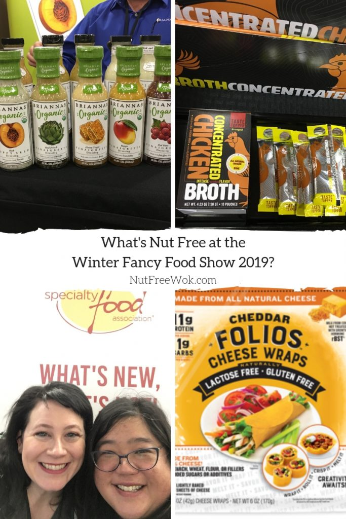 Nut free WFFS19: Introducing Briannas new organic salad dressings and Taste Toppers' concentrated chicken broth. I was so happy when my friend Erica Dermer (Celiac and the Beast) found me at the Folios booth and we both marveled at their tasty gluten free, lactose free cheese wraps.