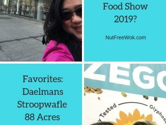 Collage of Sharon at the Fancy Food show, a list of her favorite food finds, and photo of her and Colleen Kavanaugh