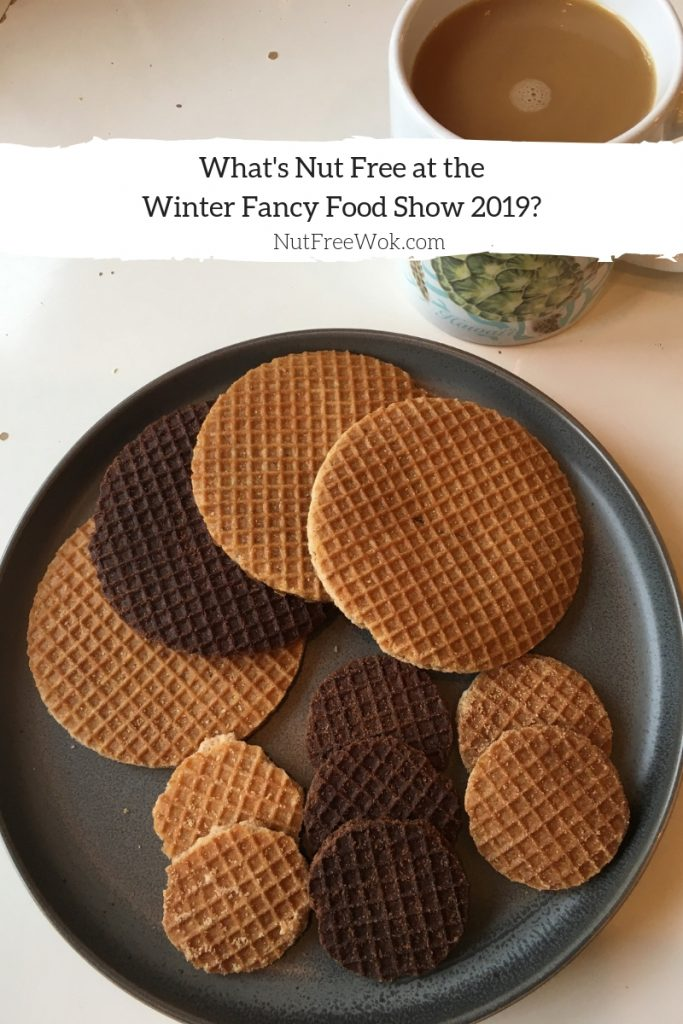Nut free WFFS19 One cup of coffee, so many Daelmans Stroopwafels to choose from: honey, chocolate-caramel, caramel, maple, mini honey, mini chocolate-caramel, and mini caramel!