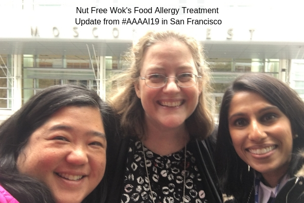 Sharon Wong, Dr. Julie Brown, and Dr. Sakina Bajowala at Moscone Center for #AAAAI19