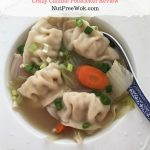 Chinese Potstickers with Napa Cabbage Carrot Soup & Crazy Cuizine Review