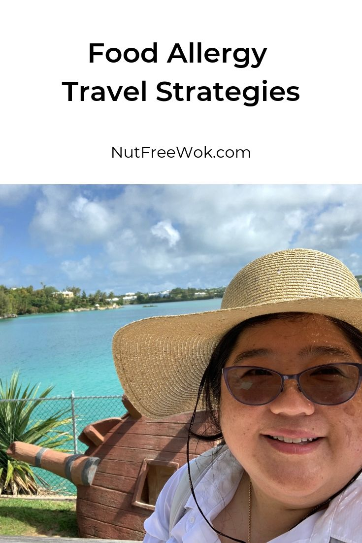 Food Allergy Travel Strategies, photo of Sharon feeling relaxed in Bermuda