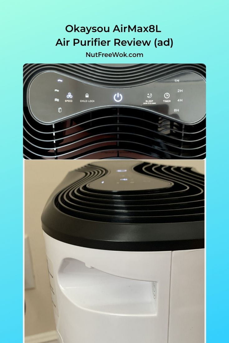 top and side views of Okaysou AirMax8L air purifier