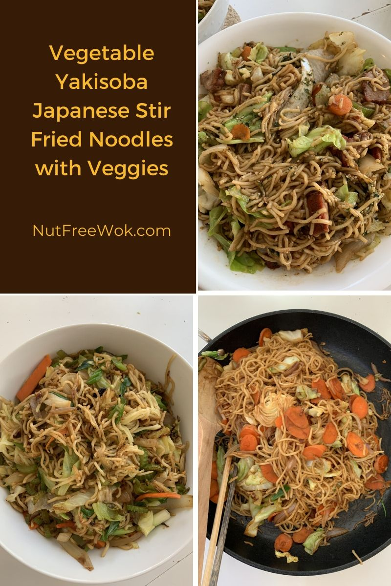 Yakisoba with veggies cooked by different family members